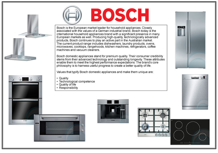 Bosch Appliances - NuImage Kitchens and Joinery